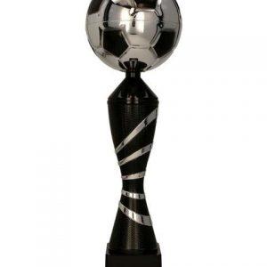 Pohár futbal strieborno-čierny GRAFIS BK