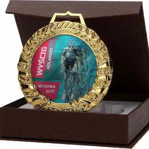 Medaila sklenená s puzdrom - zlato, 90mm