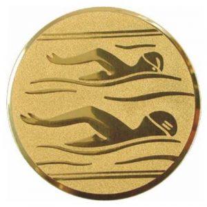 Emblém zlatý - plávanie, 25mm