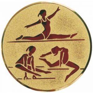 Emblém zlatý - športová gymnastika ženy, 25mm
