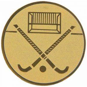 Emblém zlatý - hokej, 25mm
