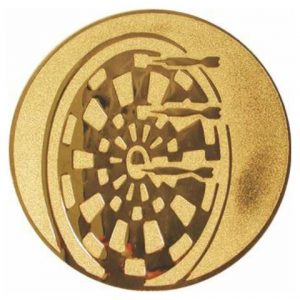 Emblém zlatý - šípky, 25mm