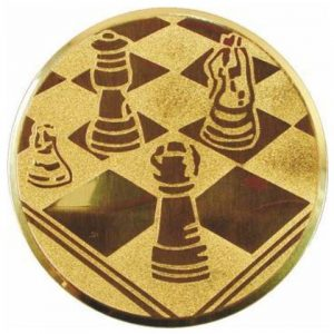 Emblém zlatý - šach, 25mm