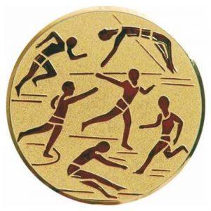 Emblém zlatý - ľahká atletika, 25mm