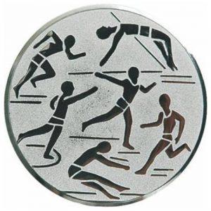 Emblém striebro - ľahká atletika, 25mm