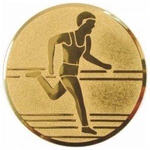 Emblém zlatý - beh, 25mm