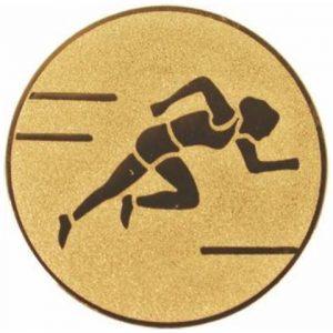 Emblém zlatý - beh/šprint, 25mm