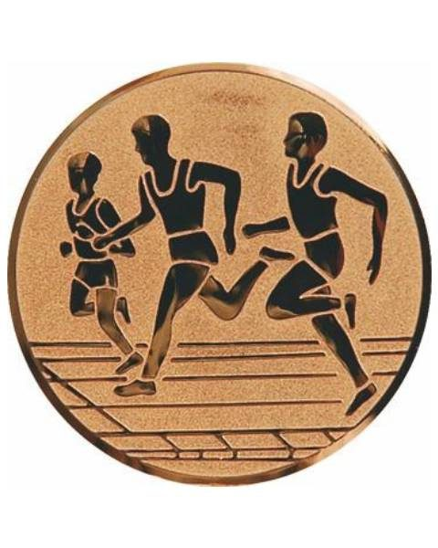 Emblém bronz - beh, 25mm