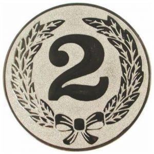 Emblém striebro - 2. miesto, 50mm