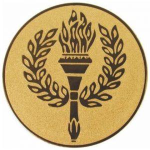 Emblém zlatý - Pochodeň, 25mm