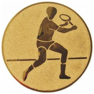 Emblém zlatý - tenis muži, 25mm