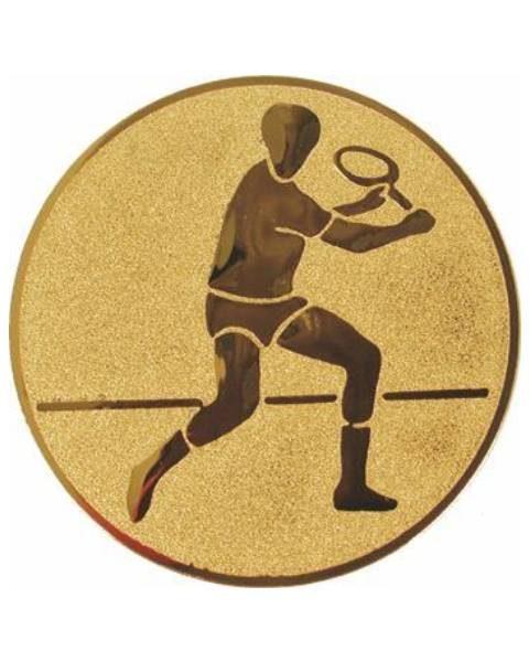 Emblém zlatý - tenis muži, 50mm