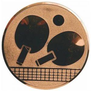 Emblém bronz - stolný tenis, 50mm