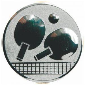 Emblém striebro - stolný tenis, 50mm