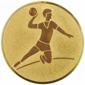 Emblém zlatý - hádzaná muži, 50mm