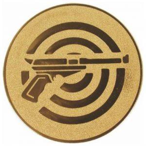 Emblém zlatý - streľba (krátka zbraň), 50mm
