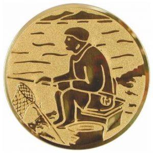 Emblém zlatý - rybárstvo, 50mm