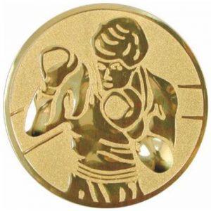 Emblém zlatý - box, 50mm
