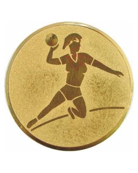 Emblém zlatý - hádzaná ženy, 50mm