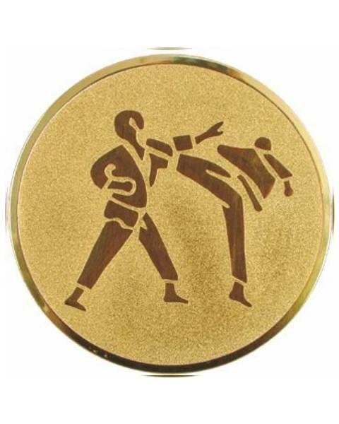 Emblém zlatý - karate, 50mm