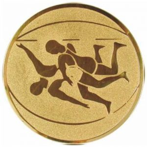 Emblém zlatý - zápasenie, 50mm