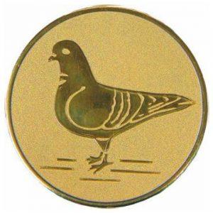 Emblém zlatý - holub, 50mm