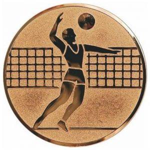 Emblém bronz - volejbal, 50mm