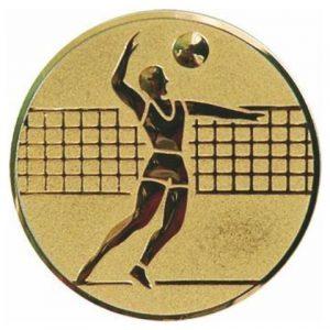 Emblém zlatý - volejbal, 50mm