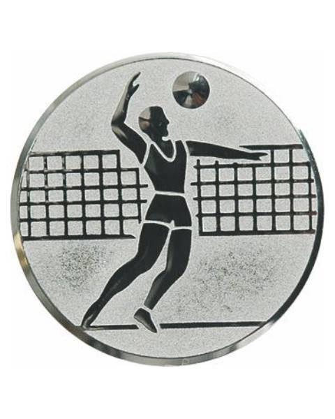 Emblém striebro - volejbal, 50mm