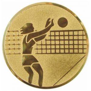 Emblém zlatý - volejbal ženy, 50mm