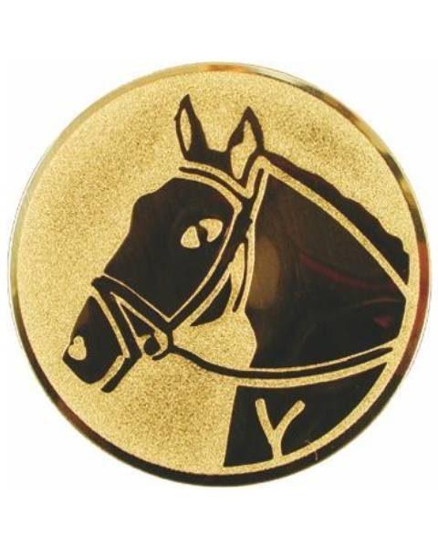 Emblém zlatý - kôň, 50mm