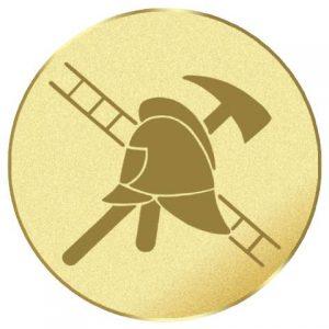 Emblém zlatý - požiarník, 50mm
