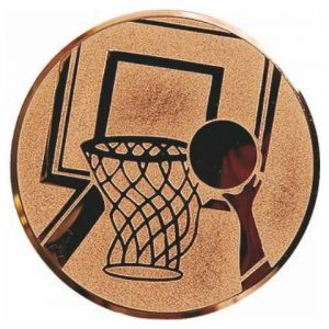 Emblém bronz - basketbal, 25mm