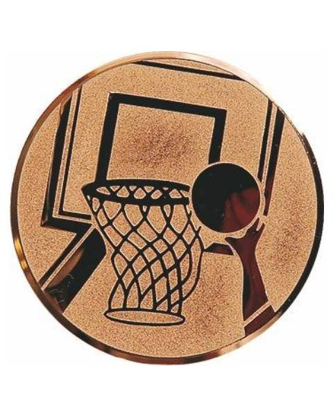 Emblém bronz - basketbal, 50mm