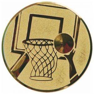 Emblém zlatý - basketbal, 50mm