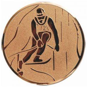 Emblém bronz - lyžovanie, 25mm