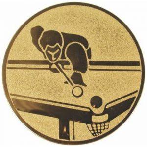 Emblém zlatý - biliard, 50mm