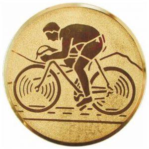 Emblém zlatý - cyklistika, 25mm