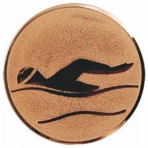 Emblém bronz - plávanie, 25mm