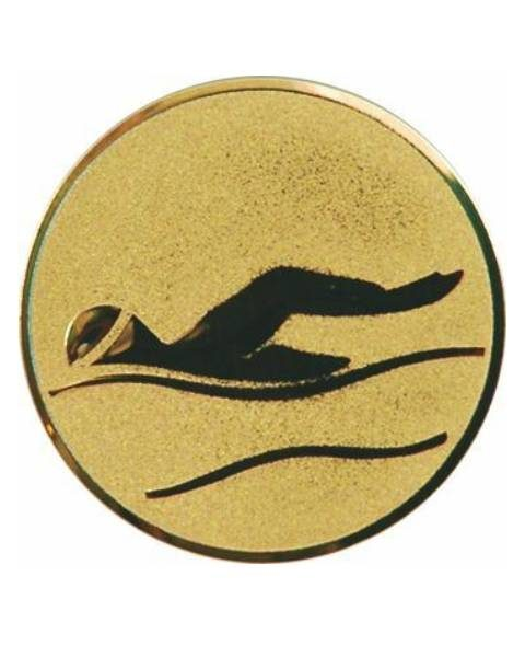Emblém zlatý - plávanie, 50mm