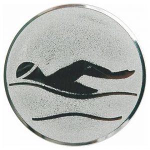 Emblém striebro - plávanie, 25mm