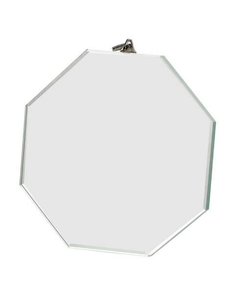 Medaila sklenená - osemhran (75x75mm, hrana 6mm)