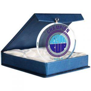 Medaila sklenená s puzdrom, 70mm