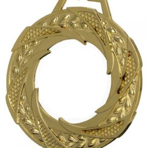 Medaila sklenená - zlato, 80mm