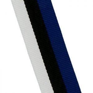 Stužky 10mm, modro-čierno-biela