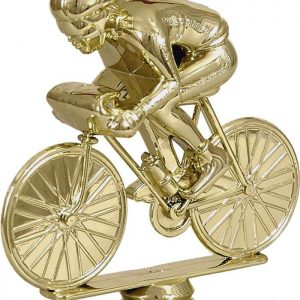 Figúrka plast. cyklistika zlatá, výška 12cm