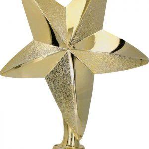 Figúrka plast. hviezda zlatá, výška 13cm