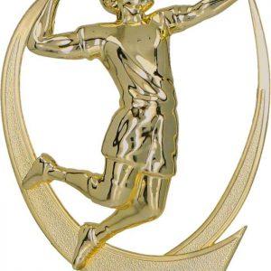 Figúrka plast. volejbal zlatá, výška 15cm