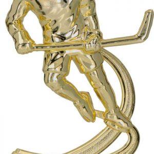 Figúrka plast. hokej zlatá, výška 15cm