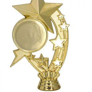 Figúrka plast. hviezda zlatá, výška 17cm